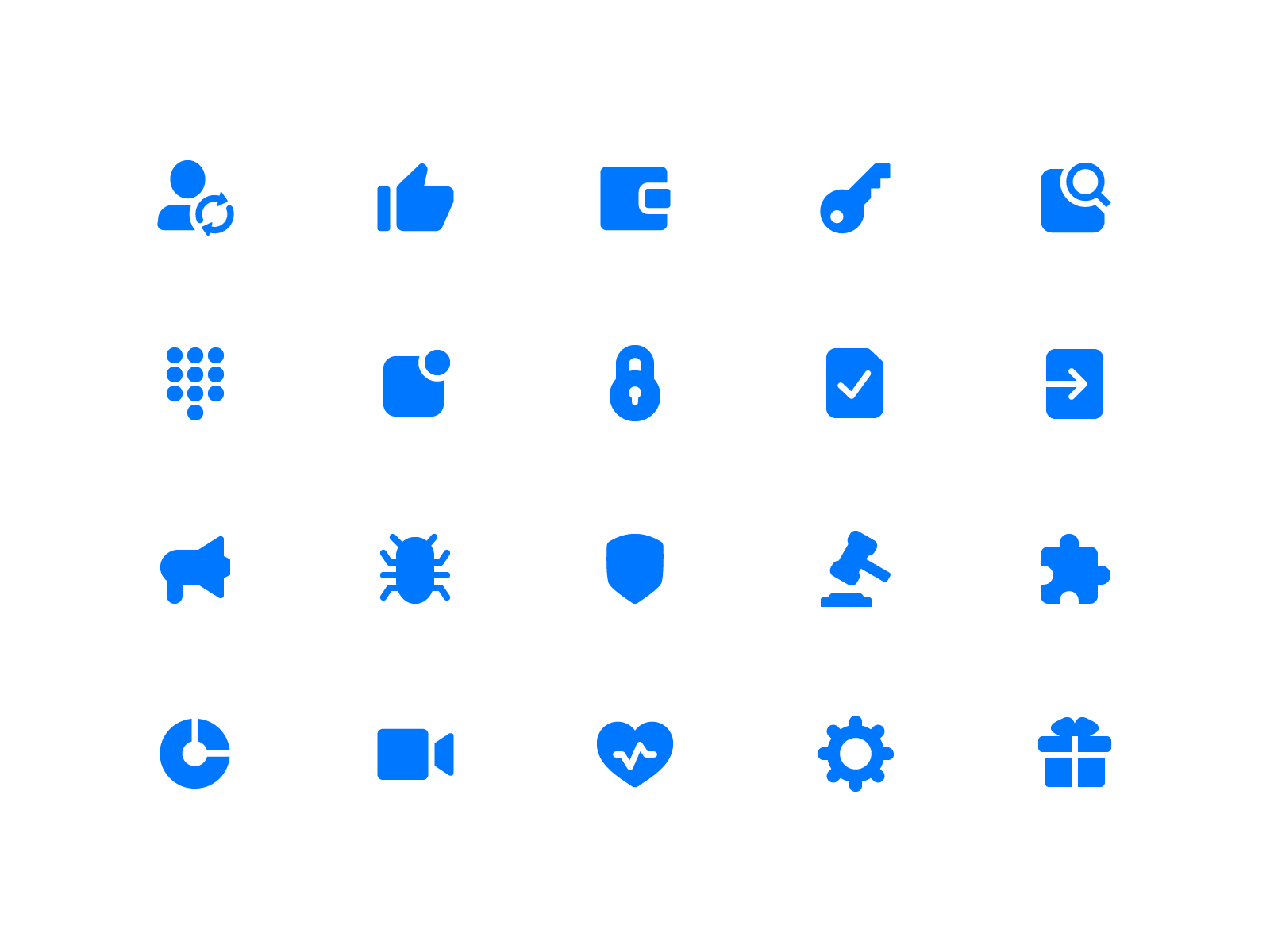 Settings icons for dribbble