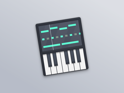 Synthesizer Icon osx icon mac icon keyboard synthesizer illustration iconongraphy icon
