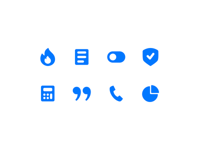 icon set icon set chart phone calculator shield switch document fire filled iconset icons iconography