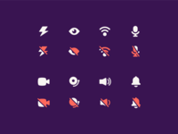 airtime iconography 2019 - on/off
