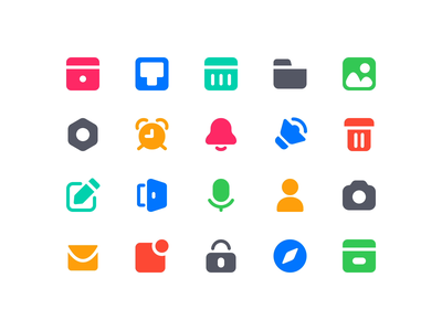 Wunderlist Iconography 2019 filled filled iconset ios vector icons iconography icon camera calender
