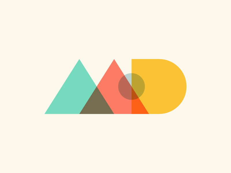 geometric MD practice weekly warm-up letterforms mark logo shapes geometric md