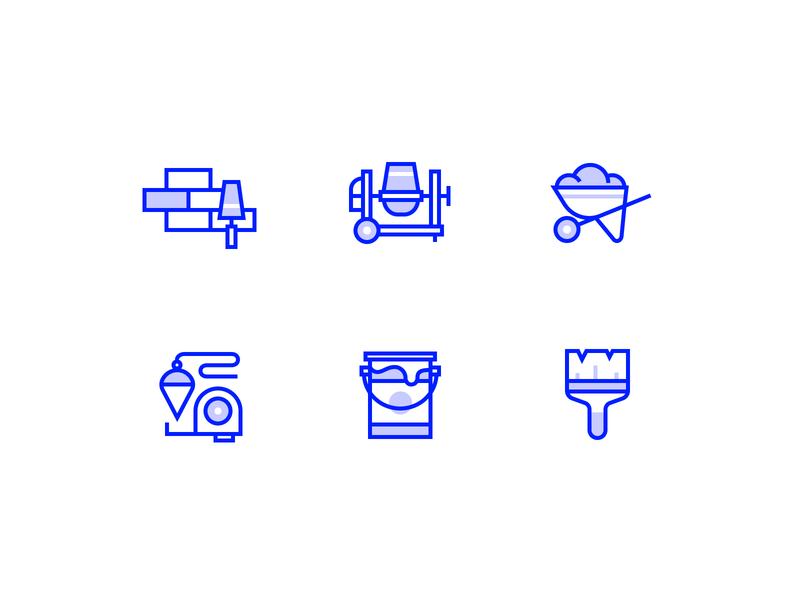 52iconsets Bricks inktober52 lined brush paint concrete bricks symbol icons pack icon sets icon iconography icons