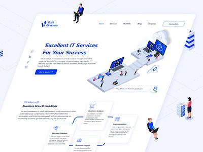 Vast Dream - Website graphic design branding illustration figmadesign design logo concep uiux service it ux website figma web design ui