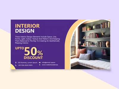 Interior Design Banner banner ads vector illustration banner design