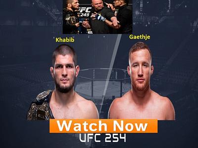 254 UFC Live Stream Online design web branding logo typography
