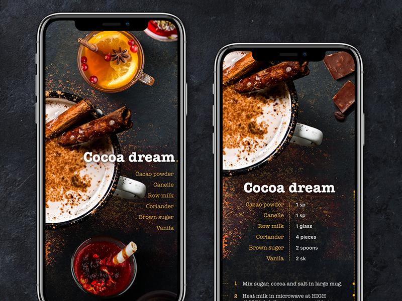 Winter drinks inspiration recipe food restaurant cafe drinks app