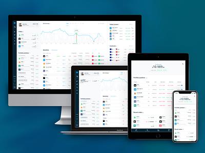 Responsive Trading Platform Layout