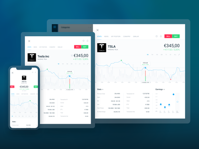 Trading App - stock preview responsive graph finance trading crypto stock trader fintech