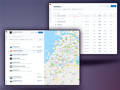 The Neuron - Digital analytics meets outdoor advertising responsive calendar map table ooh analytics web webdesign
