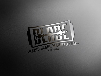 Blade logo mockup graphic design vector typography illustrator icon logo illustration branding photoshop mockup design