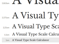 Visual Type Scale Calculator