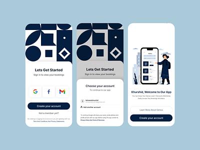 Booking Mobile UI typography app design ux design mobile ui uidesign ux vector logo design illustration branding ui motion graphics graphic design dashboad