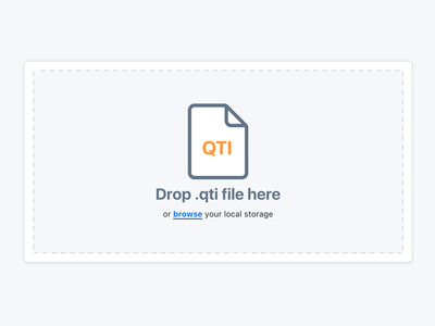 QTI upload modal qti component icons animation svg hover interaction front-end web menu upload css