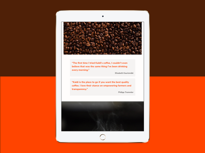 Happy customer blockquote blockquote warm coffee tachyons atomic responsive css html web footer
