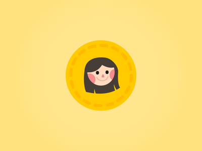 Avatar character smile face person icon avatar
