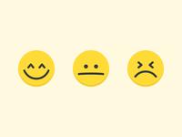 Reaction emoticons