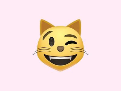 Image result for winking cat emoji