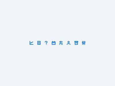 Tiny sidebar icons