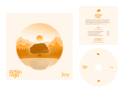 Joy album cover sunrise sunset joy illustration tree music cd album