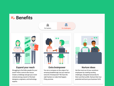 User benefits tech illustration characters features website marketing website user benefits user