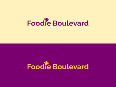 Foodie Boulevard word mark chef toque blanche typography font raleway type text branding brand logo word mark