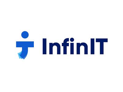 InfinIT - Branding blue it infini branding logo