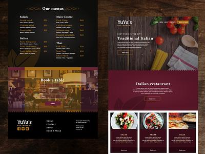 Restaurant Web Layout Concept figma design web design web web development restaurant