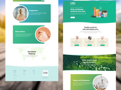 Beauty Products Web Layout Concept web development design web figma web design layout webdesign