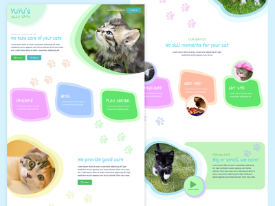 Pet Daycare Center Concept pet cats cat layout figma web design web design