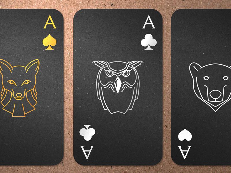 Business Card business card card ace owl predators bear fox