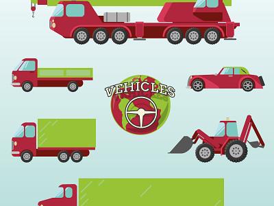 Vehicles vehicles crane truck lorry van car cabrio steering wheel cars motorcycle desert