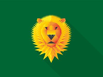 Wild Animals - lion lion wild simple geometry shapes gradient