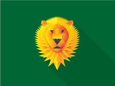 Wild Animals - lion lion wild simple geometry shapes gradient