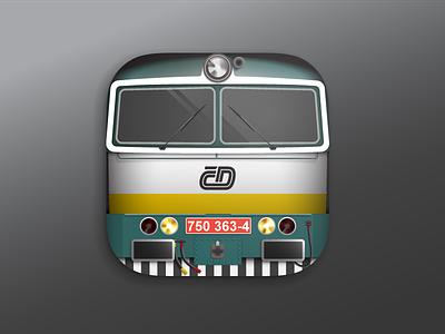 Locomotive class 750 vector iOS icon icon ios train rail czech locomotive