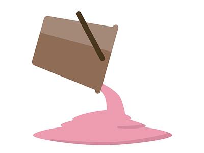 Bucket pink spill liquid bucket