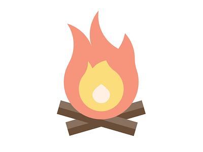 Flame icon burn wood flame