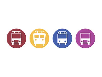 Public transport Icons transport public icons train tram bus vehicles