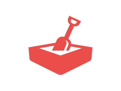 Sandbox sandpit shovel icon sandbox