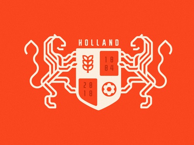 Holland Logo Redesign v2 worldcuplogochallenge visualidentity sylvanhillebrand redesign logodesign lionlogo identitydesign holland graphicdesign dribbble branddesign behance