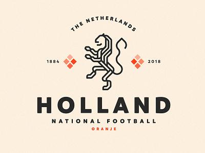 Holland Logo Redesign v3 worldcuplogochallenge visualidentity sylvanhillebrand redesign logodesign lionlogo identitydesign holland graphicdesign dribbble branddesign behance