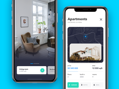Houses browser product design e-commerce browser real home mobile app rent real estate 7ninjas