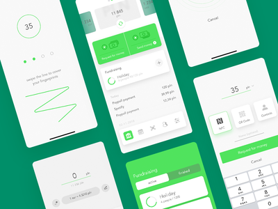 Bank App product design ux ui payment mobile mbank interface get in bank finance credit card bank 7ninjas