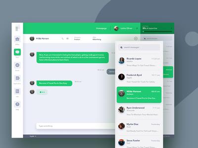 Chat App Freebies sketch free freebies web ux ui message interface inbox dashboard chat app