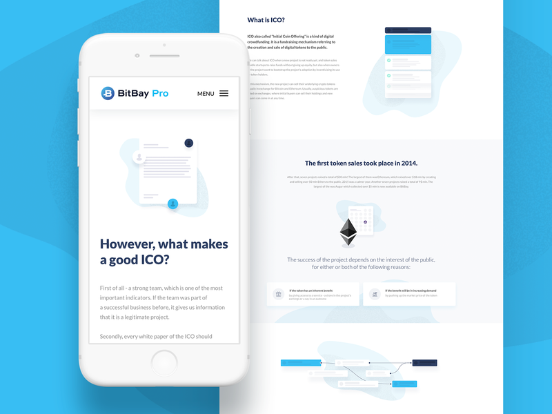 Bitbay ICO Landing Page product design bitbay ethereum bitcoin landing page cryptocurrency crypto illustration mobile ui