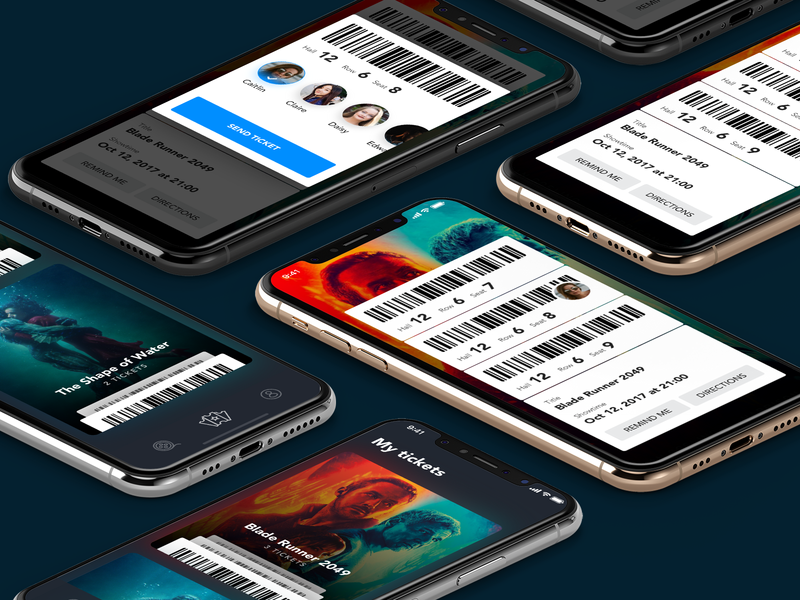 Ticket App product design movie app ticket design interaction ux mobile app ui animation