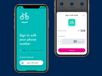 Sign in concept mobile interaction product design sign in app revolut ui animation