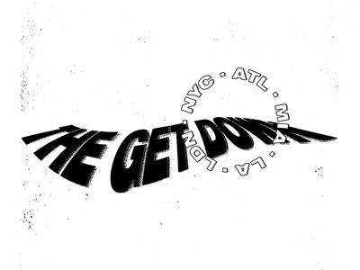 The Get Down warp warped black and white letters typography lettering type logo branding