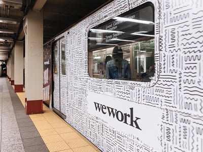 Subway Doodles subway nyc mural installation pattern illustration squiggles doodles