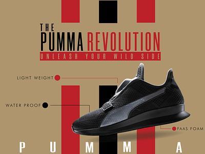 Pumma Brand Poster vector art typography identity designinspiration designer illustrator graphic design design branding